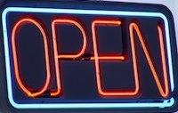 Lage und geöffnet